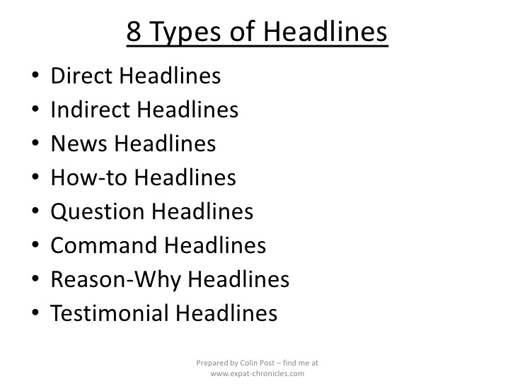 Copywriters Headlines