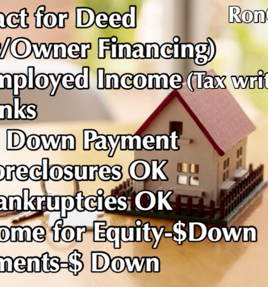 """How to buy a Contract for deed today WITHOUT paying ALL CASH!"""